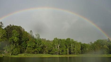 ひょうたん沼の虹