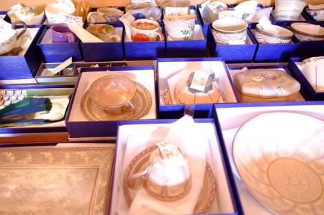 清水焼の特選品の数々(三島も多数)